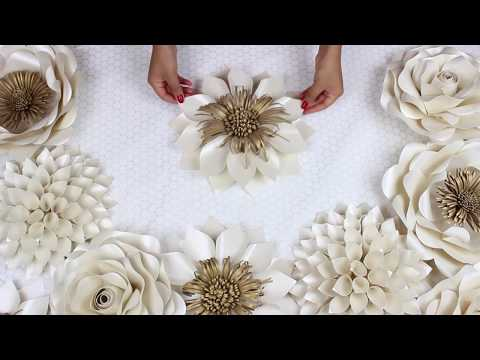 DIY Paper Flower Tutorial | My Wedding Backdrop Flowers | Template #5 thumbnail