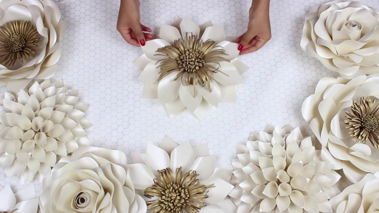 DIY Paper Flower Tutorial | My Wedding Backdrop Flowers | Template ...