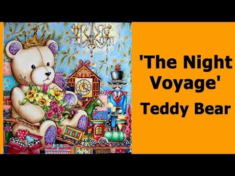 Colouring 'The Night Voyage' Teddy bear / Раскраска-антистресс