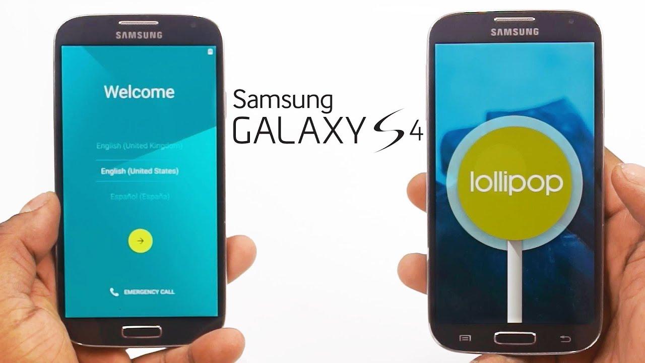 Actualizar Galaxy S4 Sgh I337m A Lollipop 501 Vía Odin3 Youtube