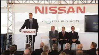 Nissan Leaf Production Site Groundbreaking Ceremony
