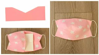 Face mask sewing tutorial Breathable face mask with filter pocket new design