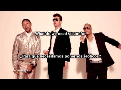 Robin Thicke  Blurred Lines ft TI, Pharrell Letra EspañolInglés