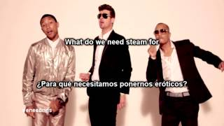 Download Video Robin Thicke - Blurred Lines ft. T.I., Pharrell (Letra Español-Inglés) MP3 3GP MP4