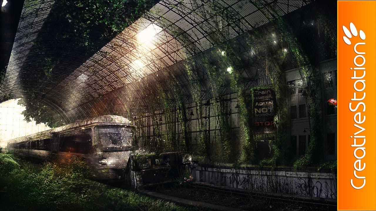 Train Travel Fantasy 4k Hd Desktop Wallpaper For Wide: Speed Art ( #Photoshop CS6