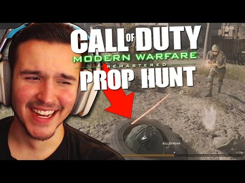 I'M TRASH... LITERALLY! (Call of Duty: Modern Warfare Remastered PROP HUNT!)