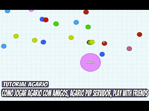 how to play with friends on agario