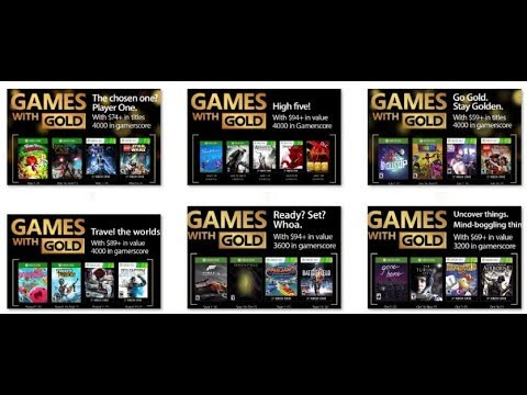 All Free Games With Gold Xbox One 360 Youtube