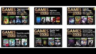 All Free Games With Gold Xbox One & 360