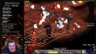 Diablo 2 - Pushing closer to Level 99 today - Baal Runs NO DEATHS PLZ - GOD of WAR after?
