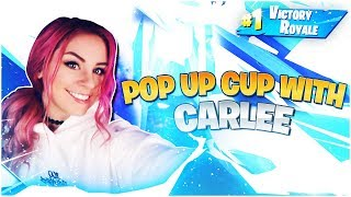 POP UP CUP DESTRUCTION WITH CARLEE - Electra Fortnite Gameplay