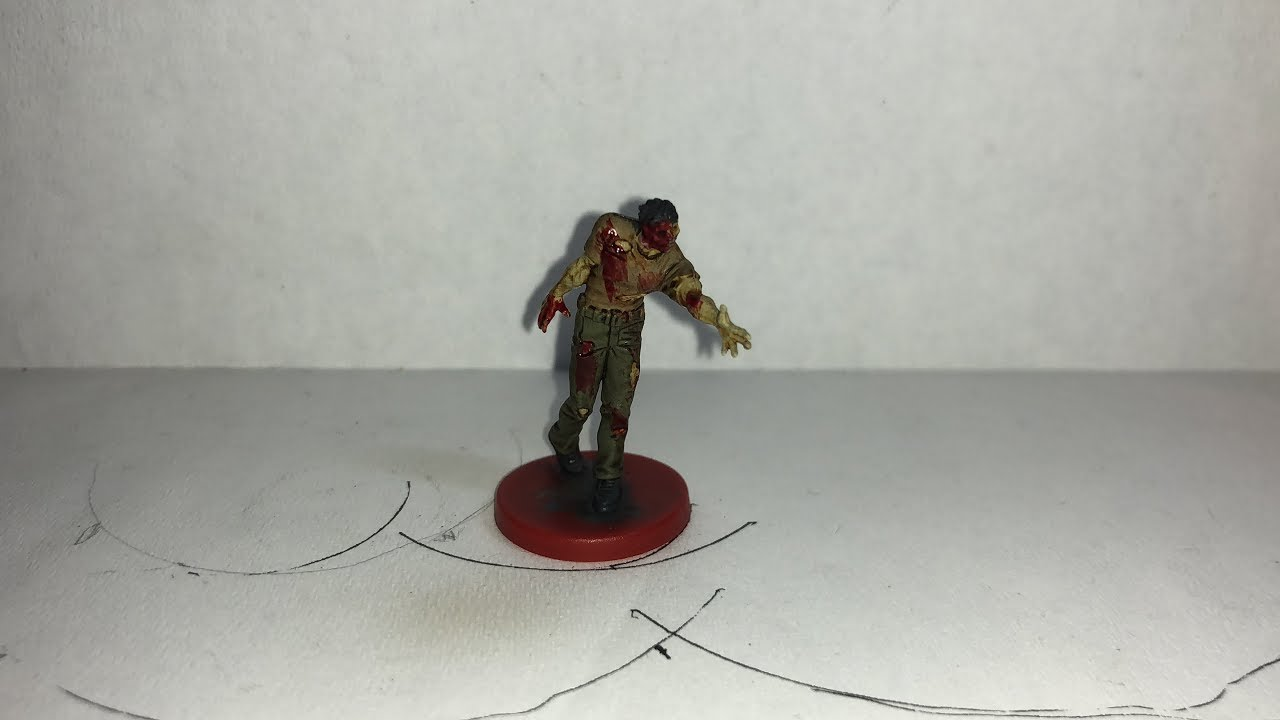 Resident Evil 2 The Board Game Male Zombie Version 2 Quick Paint