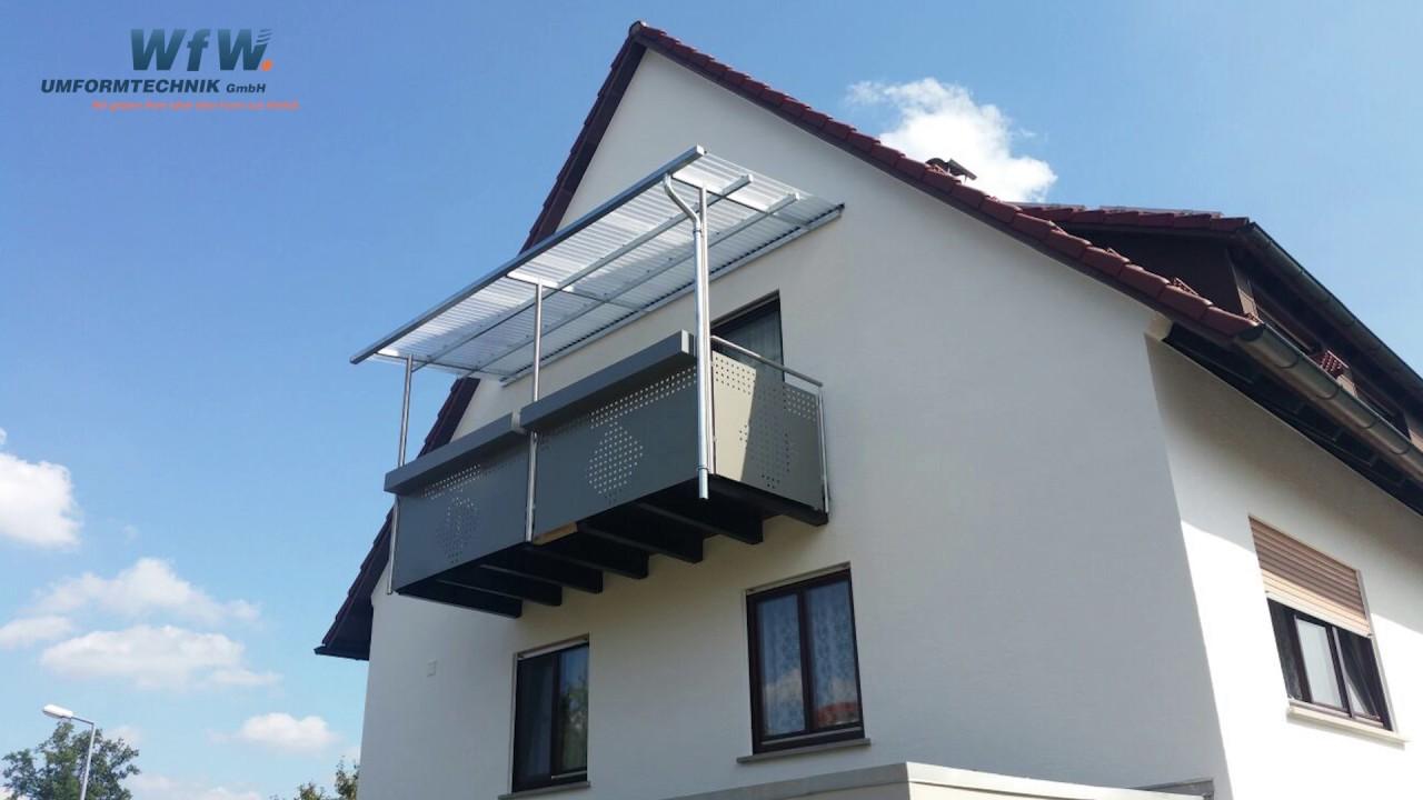 Extrem Lochbleche als Geländerfüllungen und Verkleidungen, für Balkone ZF87