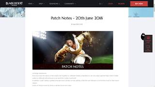 Black Desert Patch Notes for 20.6.18 Patch: Wizard and Witch Patch