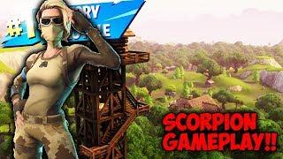 "New Fortnite Battle Royale ""Scorpion Skin"" Gameplay!!"