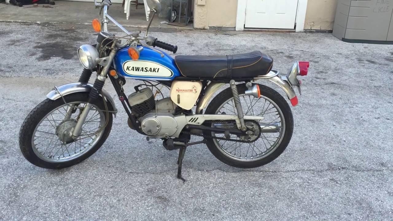 1970 Kawasaki Bushmaster 90 - YouTube