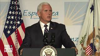 watch vp pence speaks at hispanic prayer breakfast