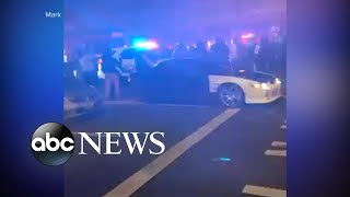 Police SUV seen plowing through crowd in Tacoma, Washington