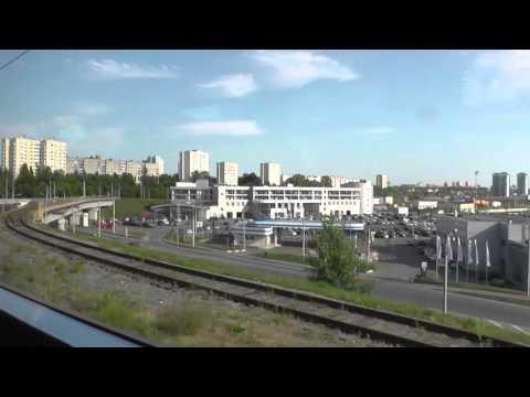 Казань из окна электропоезда