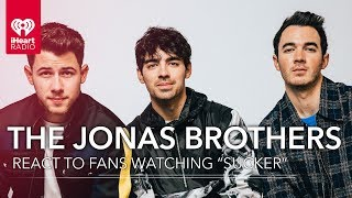"The Jonas Brothers React To Fans Watching ""Sucker""  For The First Time!"