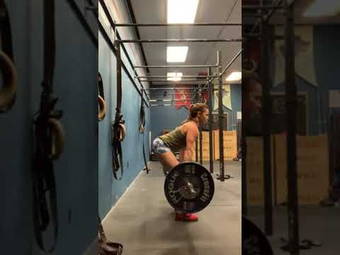 B(a) Clean Lift-off to below knee + pause (125#)