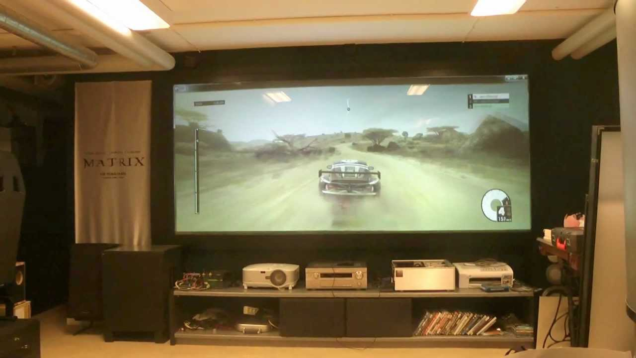 Edge Blending Demo With 2 Projector Game Dirt 3 Cargame