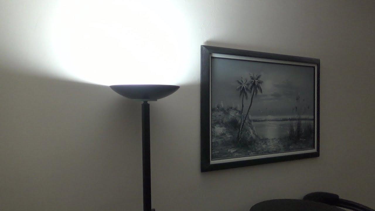 Easily Convert Halogen Torchiere Lamp
