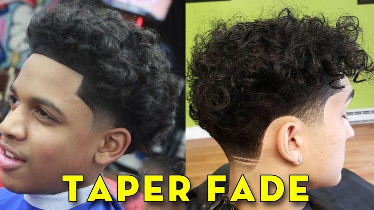 Black Taper Haircut Fade 35