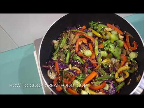 🍅 🍆 Easy Chinese Stir Fry Vegetables Recipe - Vegan Vegetarian