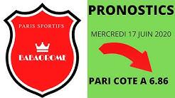 PRONOFOOT DE MERCERDI 17 JUIN ......PARI COTE A 6.86