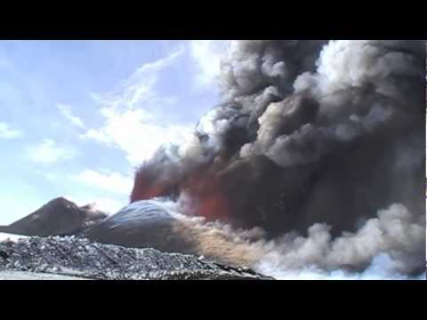 Mt.Etna, Heavy Volcanic Eruption