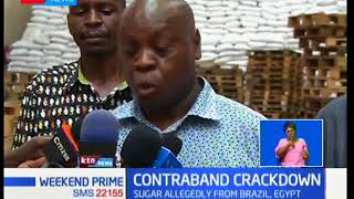 Police in Mombasa have seized over 300000 bags of Egyptian and Braz...