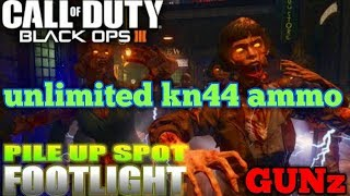 UNLIMITED KN-44 AMMO ON SHADOWS OF EVIL BO3 ZOMBIES!!!!!