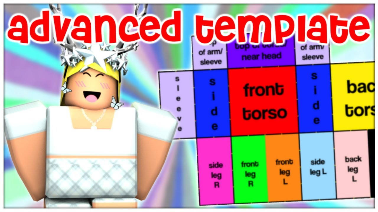 Roblox Clothes Template How To Use The Advanced Template Roblox Designing Tips Youtube