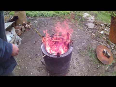 Бездымная печка для сжигания мусора