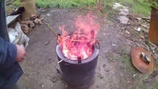 видео Бочка для сжигания мусора на даче своими руками
