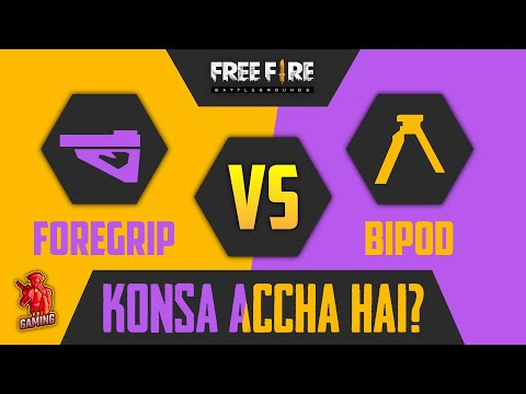 Foregrip Vs Bipod - Ultimate Guide to Choose Between Forgrip and Bipod! Freefire Latest Tips Tricks - 동영상