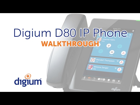 Digium D80 IP Phone | Walkthrough