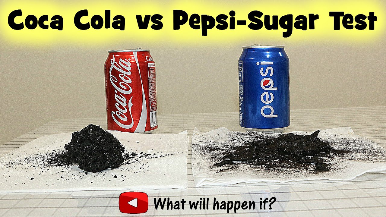 Coca Cola Vs Pepsi Sugar Test Speedy Youtube