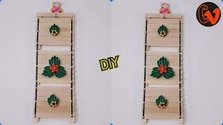 DIY Quilling Paper Wall Hanging/ Popsicle Sticks/Home Decor/Tutorial