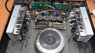 yamaha power amplifier repair part 1, electronics
