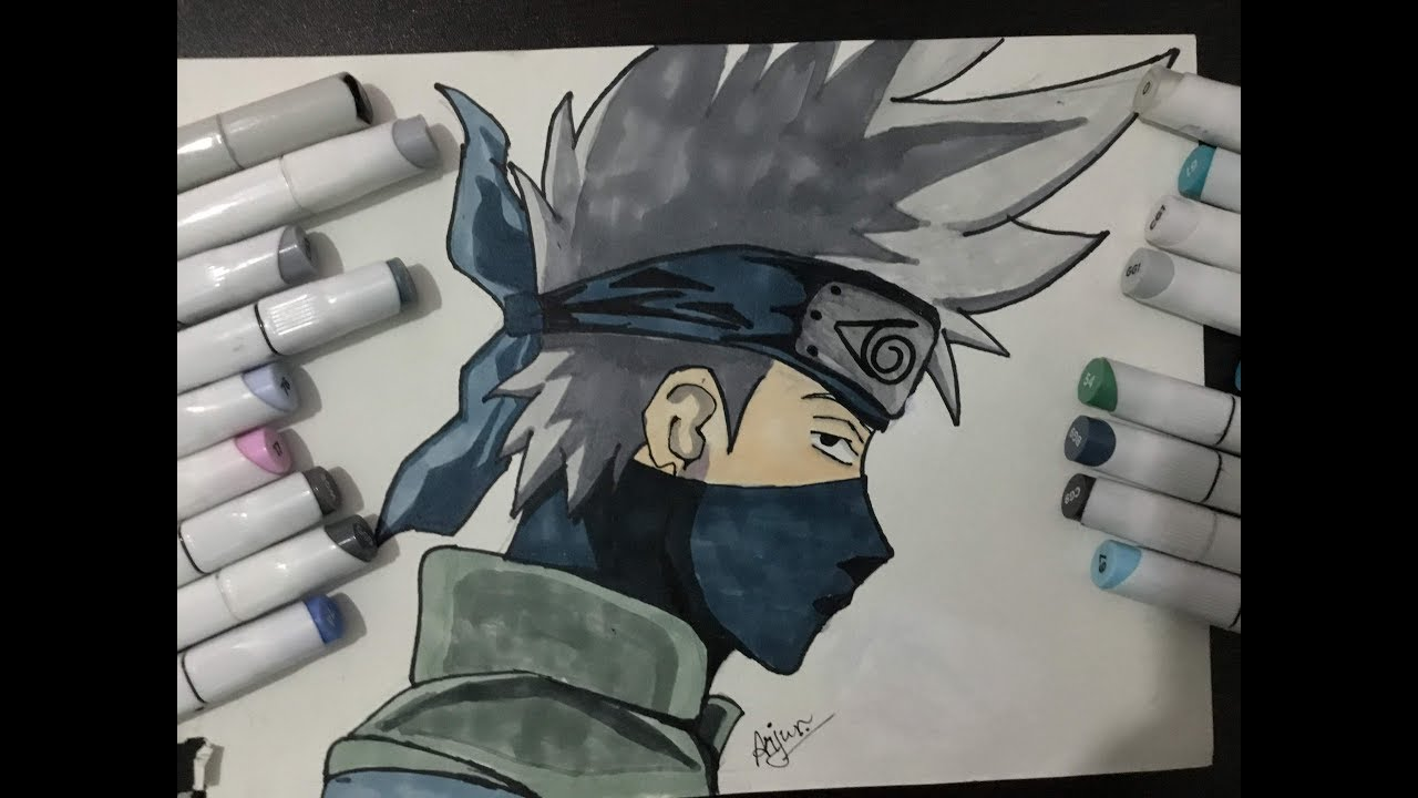 Drawing Kakashi Sensei.{ speed draw }
