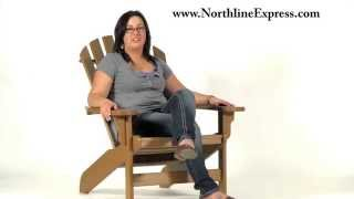 Breezesta's Maintenance Free Patio Furniture - The Cedar Coastal Adirondack Chair
