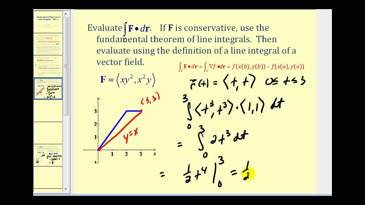 the fundamental theorem of line integrals - part 1