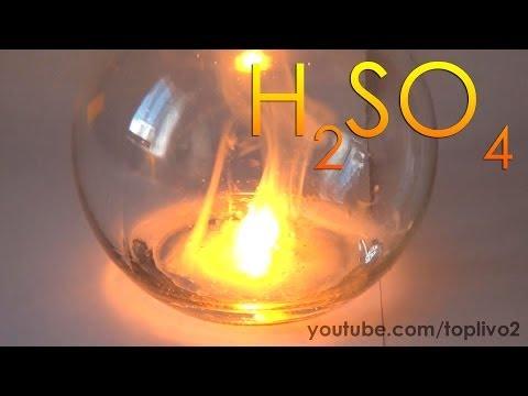 Изучаем химические свойства концентрированной серной кислоты!