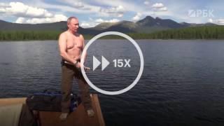 Ускоренная версия рыбалки Путина в Туве