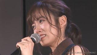 AKB48飯野雅(20)が1日、東京・秋葉原で行われた劇場公演でグ...
