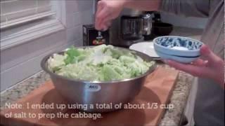 How to make Cabbage Kimchi (Mak Kimchi / 막김치)