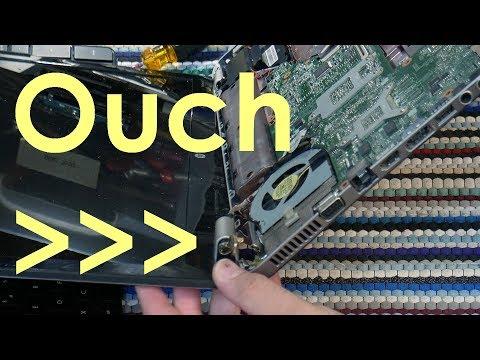 HP Pavilion dv7 Broken Hinge Mount Repair and Motherboard Reflow (4K UHD) - Jody Bruchon