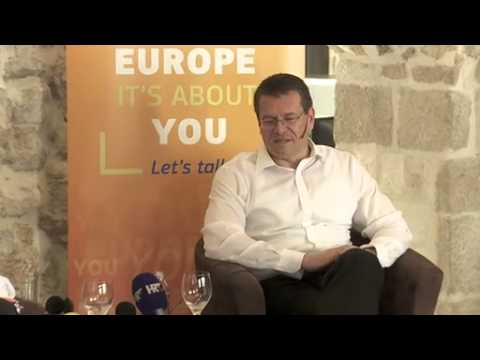 Citizen Dialogue in Dubrovnik, Croatia, with Minister Ivan Vrdoljak